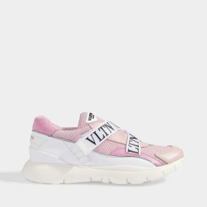 Valentino GaravaniVLTN logo粉色运动鞋