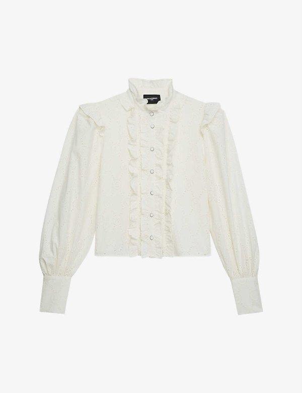 白色蕾丝衬衫