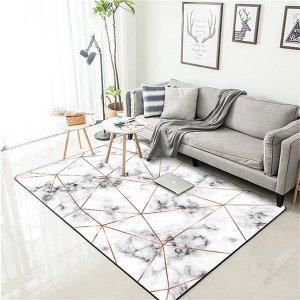 白色大理石纹地毯