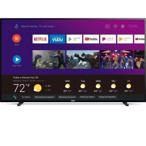 $488Philips 65吋 4K超高清 安卓系统智能电视 带Google Assistant