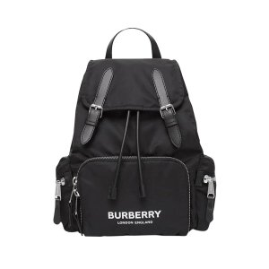 BurberryBlack Logo Backpack