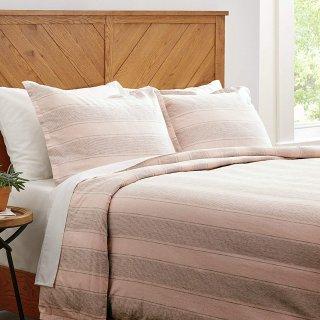 $21.48Stone & Beam Washed Linen Stripe Duvet Cover Set, Full / Queen