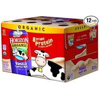 低脂有机牛奶8oz 12包