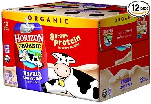 低脂有机牛奶8oz 12盒
