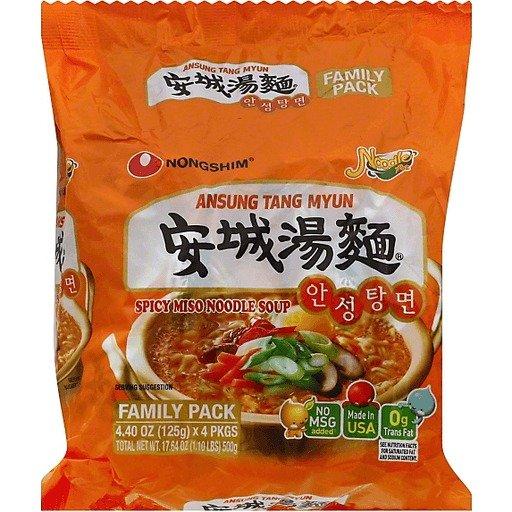 安城汤面 4包装