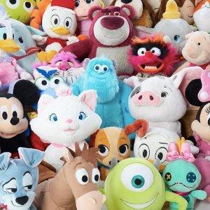 低至6折shopDisney官网毛绒玩偶、多款玩具优惠