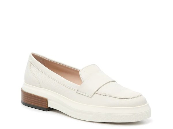 白色乐福鞋