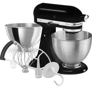 $269.99 (原价$529.99) 5.1折KitchenAid 4.5夸脱厨师机 送多个配件 和面调馅同时做
