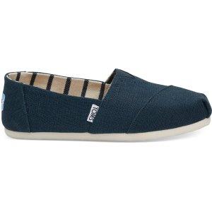 Toms粉丝晒货相似款一脚蹬帆布平底鞋