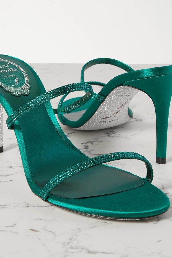 Bessie crystal-embellished 穆勒鞋