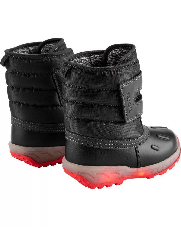 儿童闪灯保暖雪地靴