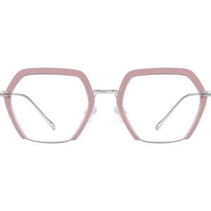 Pink Geometric Glasses #327819 | Zenni Optical Eyeglasses