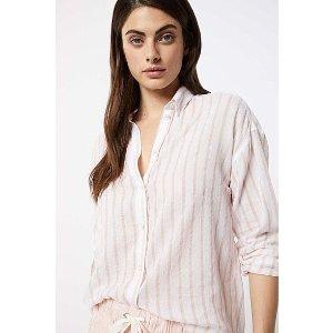 粉色条纹衬衣