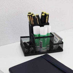 低至7.6折 四格笔筒$10.7多格金属网格笔筒 简单设计实用易清洁桌面收纳 多款造型