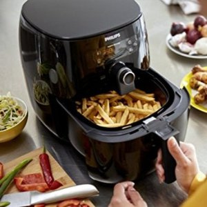 $199.95 Philips Airfryer, Avance Digital TurboStar, Fry Healthy with 75% Less Fat, HD9641/96, Black