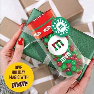 $8.85史低价:M&M'S 牛奶巧克力圣诞礼盒装 13oz 6罐