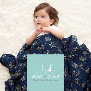 低至5折 乔治小王纸御用最后一天:Aden + Anais 宝宝包巾、纱布毯、口水巾等特卖