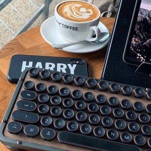 低至£26起 Azio补货到复古打字机键盘回货 高颜值高手感 让你爱享受打字过程