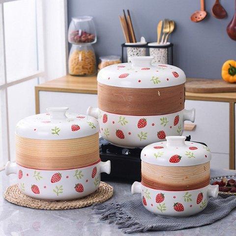 Ceramic Cherry or Strawberry-Covered Casserole Cookware from Apollo Box