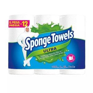 SpongeTowels 纸巾6卷 相当于普通12卷