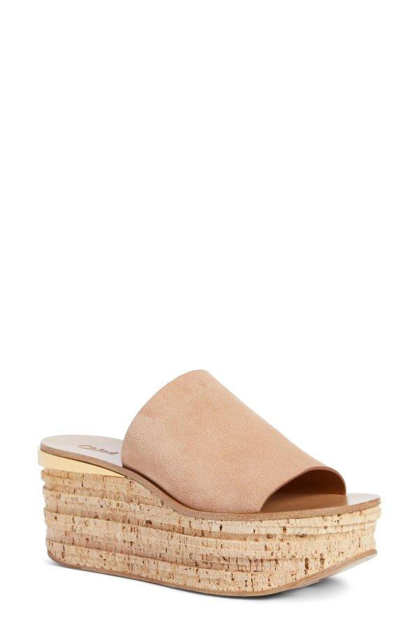 Camille Cork 厚底鞋