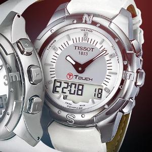 1.7折 $199 (原价$1175)逆天价:天梭 T-Touch 镶钻超轻钛金属多功能腕表特卖 朱莉同款