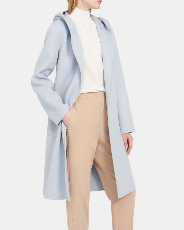 浴袍式羊绒羊毛大衣
