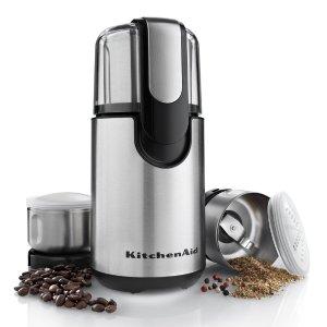 KitchenAid BCG211OB 电动咖啡研磨器 自制绿豆花生芝麻粉