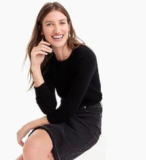 Long-sleeve everyday cashmere crewneck sweater