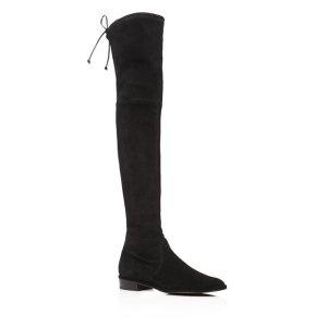 Stuart WeitzmanWomen's Lowland Stretch Suede Over-the-Knee Boots