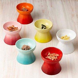 €20起收 直邮到家 多买更划算Le Creuset 宠物用罐头碗、高脚碗  爱宠的神仙颜值餐具