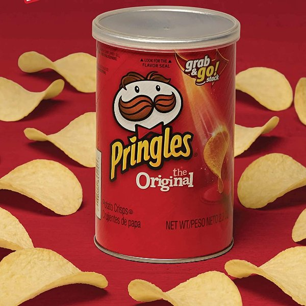 Pringles 罐装原味薯片 2.3oz 12罐