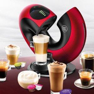 5.1折 3色可选仅€99.99史低价:De'Longhi 雀巢酷思胶囊咖啡机 现代感爆棚 赠送48颗胶囊
