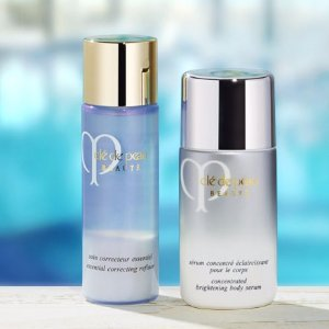 Free Travel Size Essential Correcting Refiner or Concentrated Brightening Body SerumWith Purchase of Their Full-size Companion @ Cle de Peau Beaute