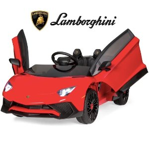 Best Choice Products 12V Kids Ride-On Lamborghini Aventador SV Car RC Toy w/ Horn, LED Lights