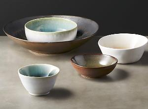 5-piece melt reactive serving bowl set