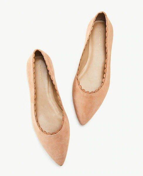 麂皮花瓣鞋