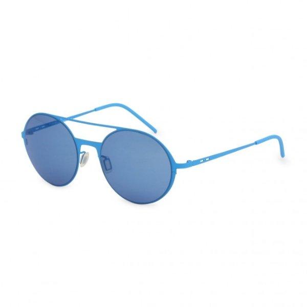 蓝色圆框墨镜