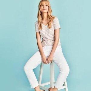 无门槛7.5折 £14入百搭裤M&S 女士卡其裤热卖 显高阔腿裤、显瘦烟管裤都有