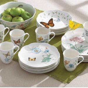 $99.99Lenox 蝶舞花香高级陶瓷餐具18件套