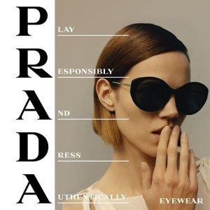 低至2.8折 $142收不规则墨镜Prada 时尚墨镜热卖 高冷女神or霸道总裁由你选