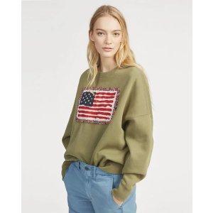 Ralph Lauren美国国旗印花卫衣