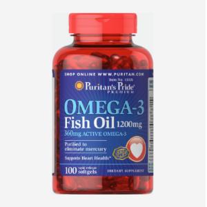 买1送1 + 额外7折 低至$3.49/瓶最后一天:普瑞登 Omega-3 深海鱼油 1200 mg 100粒装