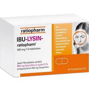 €14.53(原价€20.29)收50片布洛芬消炎止疼片 可广泛用于头痛、牙痛、月经痛、发烧等