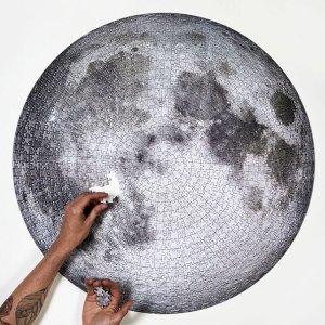 9折仅€18.99 消磨时间又益智Sunwuun 网红月球拼图1000张 将月亮摘下赠予ta