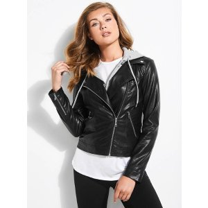 GuessEaston Hooded Moto Jacket at Guess