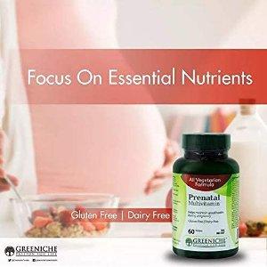 $8.45(原价$21.99)Greeniche Natural 孕妇多种营养素60片 含叶酸、生物素等