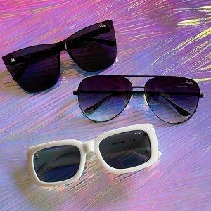 2副$40Quay 周日大促 精选时尚墨镜、蓝光眼镜促销