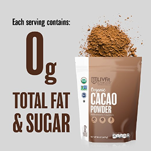 $8.49LIVfit Superfood Organic Cacao Powder 100% Raw Organic Cacao Powder @ Amazon.com