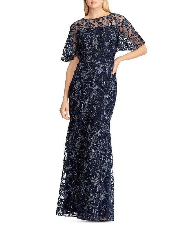 蕾丝刺绣礼裙